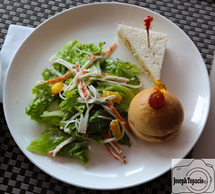 Fresh Crab Salad, Mini Clubhouse sandwich and Ham Bun photo by joseph.topacio