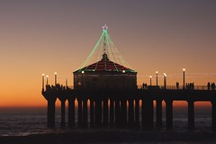 pier christmas lights photo by Karol Franks