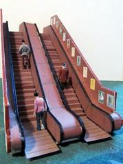 London Underground Escalator photo by kingsway john