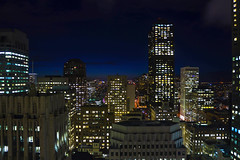Office Buildings at Night photo by louisraphael