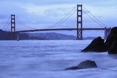China Beach at Blue Hour in San Francisco, California photo by louisraphael