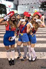 Halloween Costumes on the Streets of Tokyo photo by tokyofashion