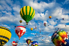 Vibrant Hot Air Balloons photo by freestock.ca ♡ dare to share beauty