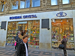 Bohemia Crystal store on Wenceslas Square in central Prague, Czech Republic. November 16, 20142 photo by Vadiroma