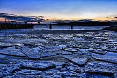Hudson River Freeze Out - Blue Hour photo by Jeffrey Friedkin