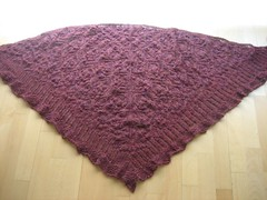 Mistery shawl, ready to block