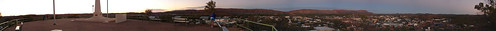 Panorama of Alice Springs at Sunrise from Anzac Hill