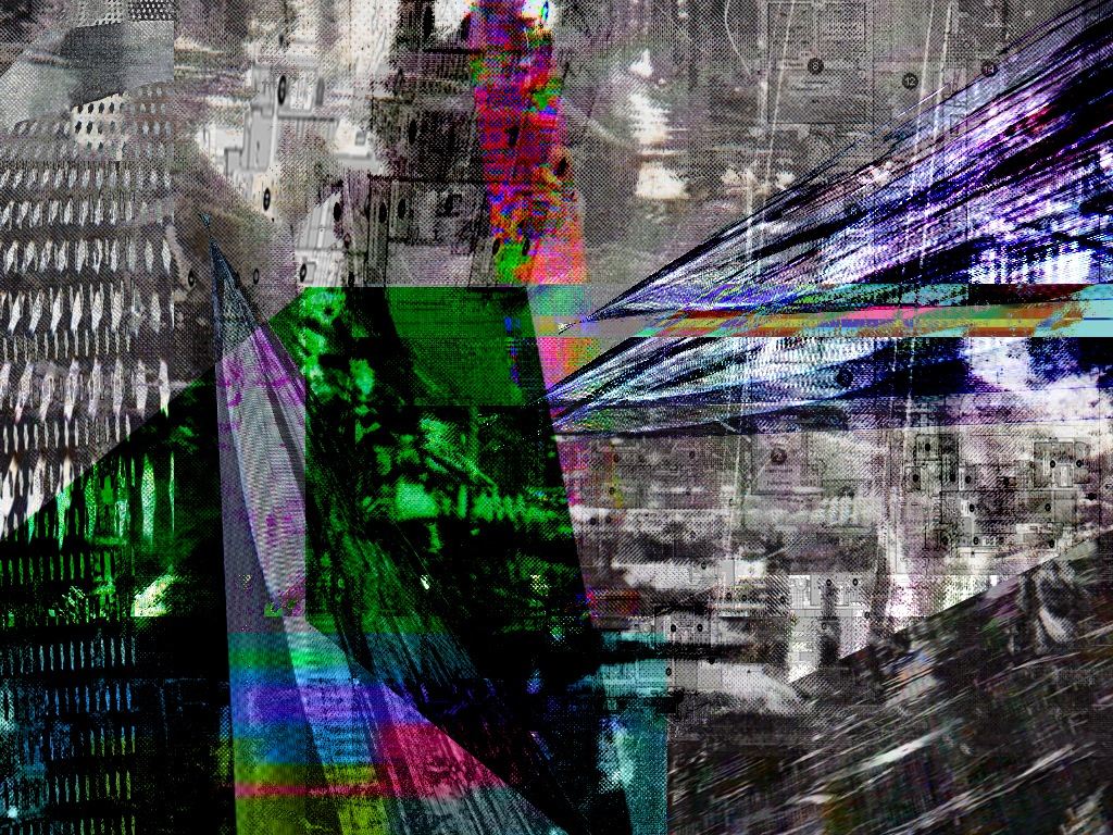 Glitch art paintings
