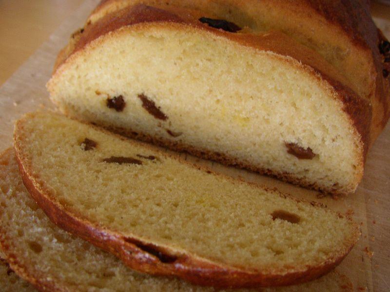 Süsses Maisbrot - aufgeschnitten