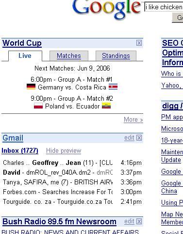 google world cup widget