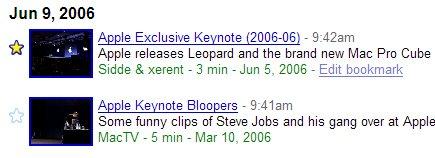 Google Video Favoriten