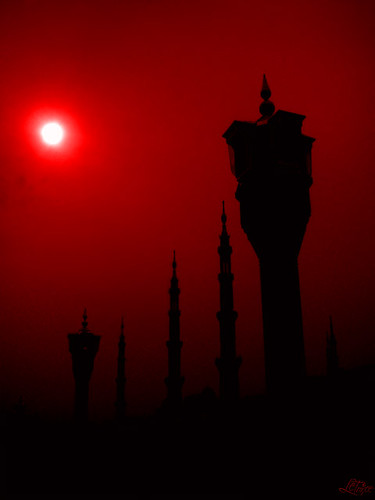 lampione nel rosso