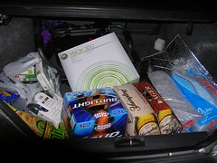 beer and xbox360 in a trunk