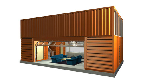 Quik House, Adam Kalkin, Prefab, Prefab Housing, Prefab Friday, Green Design, Sustainable Design, Eco Design, Green Architecture, Eco Architecture, Sustainable Architecture, Green Building, Modular House, Shipping container architecture, container building