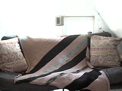 Brown Diagonal Blanket