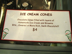 ice cream cones!
