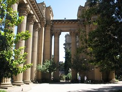 The colonnades at the Palace of Fine Arts