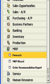 MRP in SAP Business One: A Business Scenario