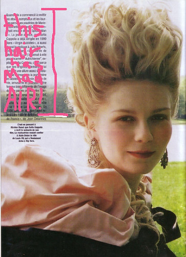 marie antoinette movie hair. for Marie Antoinette,