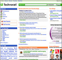 Technorati's new look