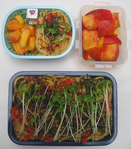 Tarako spaghetti: mother and son lunches お弁当