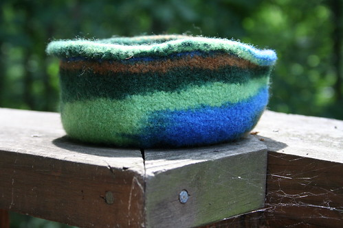 Felted Bowl - in Profile