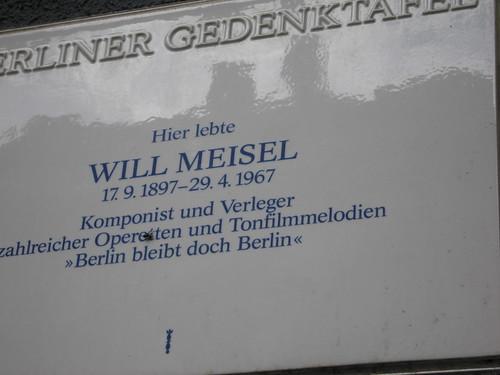 Hier lebte Will Meisel (1897 - 1967)