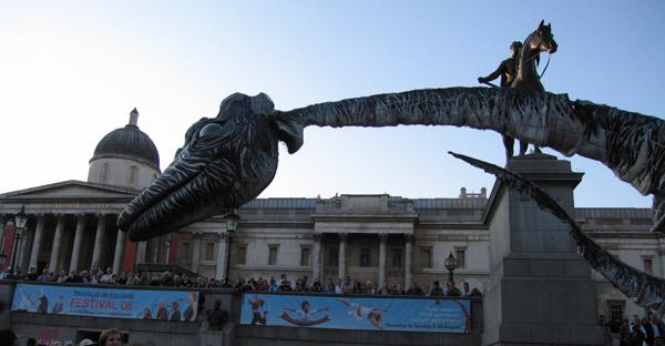 Dinosaurios en Trafalgar!!!: Comienza el Trafalgar Square Festival