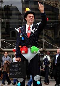 Liam Yeates Commuter Suit - BBC image