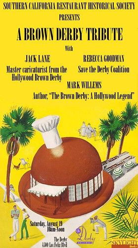 SCRHS Brown Derby Tribute Flyer