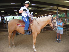 Tommy received 3 blue ribbons for his riding at the STAR horse show!