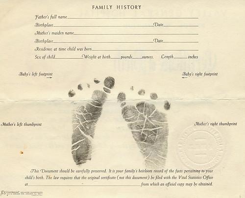 copy of blank birth certificate