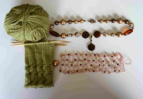 WRISTWARMERS AND HANDMADE JEWELLERY