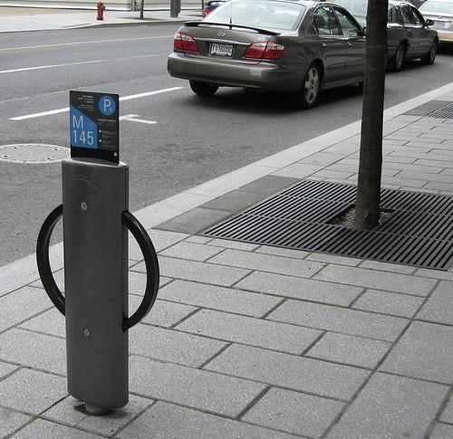Parking marker/bike rack