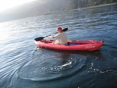 Peter paddling Prisoners' Harbour