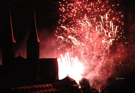 Kerwamontag Feuerwerk
