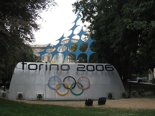 Torino 2006 Olympics symbol near the central station