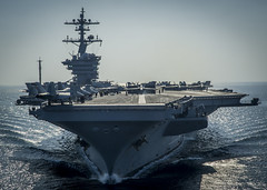 USS Carl Vinson is underway in the Arabian Gulf. photo by Official U.S. Navy Imagery