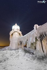 """Frigid Light"" St. Joseph Lighthouse photo by Michigan Nut"