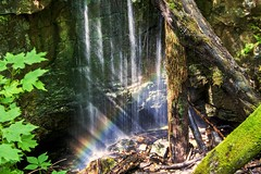 Rainbow in the Falls photo by lightonthewater