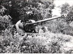 32-  15 avril 45 - Attaque du BM2 sur Royan- un 75 antichars allemand nous attendait- Fonds Amiel