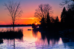 Lake Scugog Sunset photo by Ernie Kwong Photography {Busy - here and there}