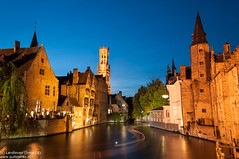 Brugge blue hour photo by Landleven (Irma Lit)