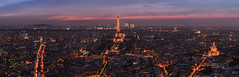 Paris - Skyline after Sunset photo by claudecastor