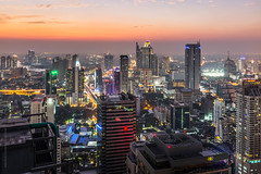 Bangkok city after sunset photo by tuanland