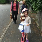 Amy and Monkey scooting<br/>13 Sep 2015