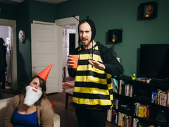 Brian the Bee & Gnome Jenna photo by BurlapZack
