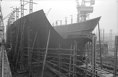 'Nicola's stern frame in place photo by Tyne & Wear Archives & Museums