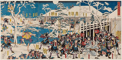 Hiroshege II (1826-1869) - 1847-52 The Night Attack in Chushingura (Museum of Fine Arts, Boston, USA) photo by RasMarley
