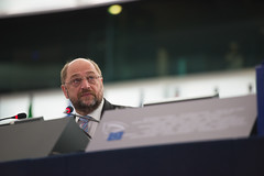 President Schulz opens of the plenary session in Strasbourg